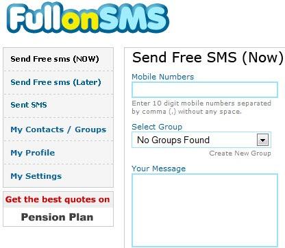 FullOnSMS - Free SMS Send Online