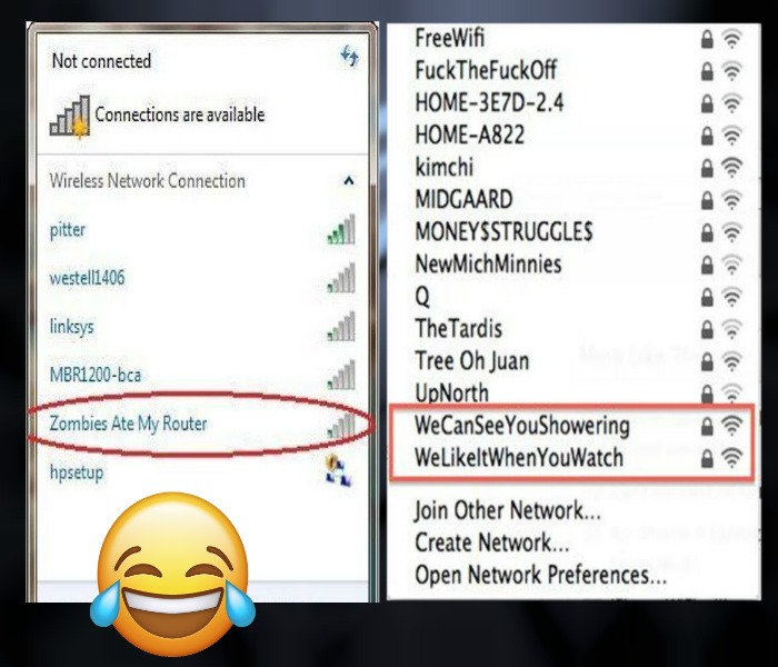 Funny Wifi Names for Router