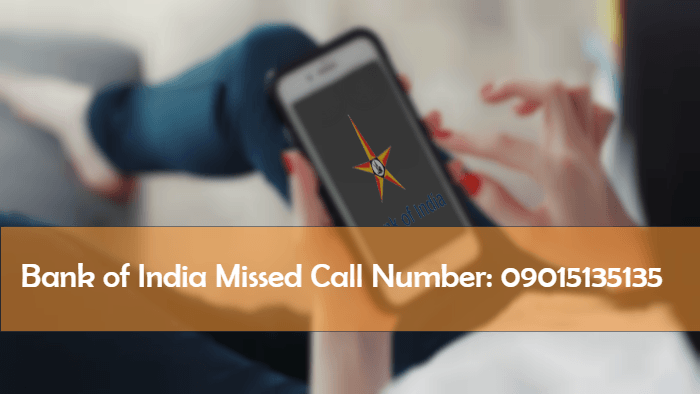 BOI - Bank of India Missed Call Number