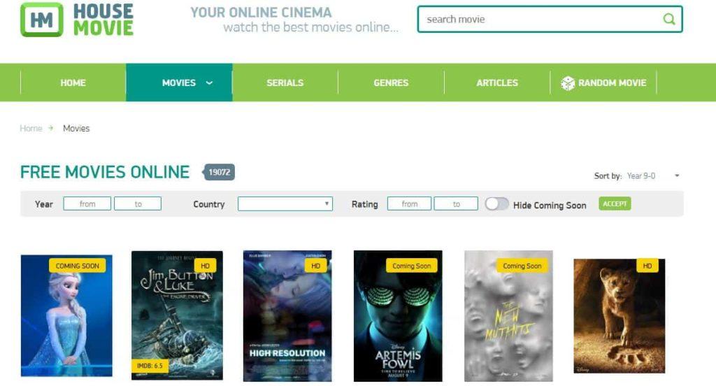 housemovie - free movie sites like solarmovie